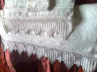 Makerist - serviettes de toilette, avec bordure crochet - 1
