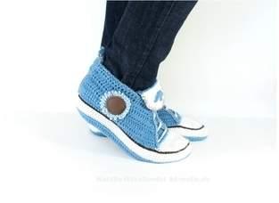 Makerist - Sneakers für Zuhause in Jeansoptik - 1