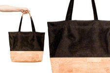 Makerist - Shopper »The Black Line Copper & Cork« - 1