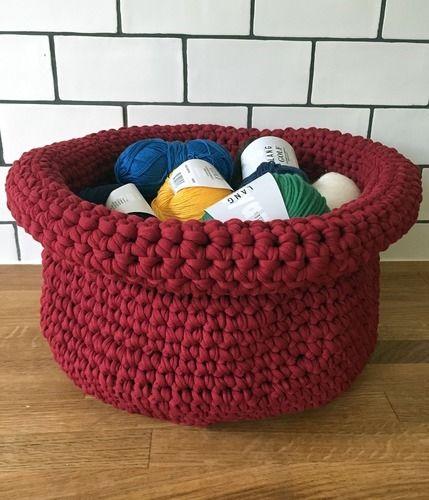 Makerist - Häkelkorb für den Wollvorrat - Häkelprojekte - 1
