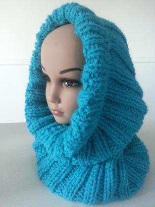 Makerist - Snood/cagoule VALENTINE fait main en laine et alpaga - 1