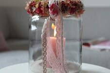 Makerist - Herbstdeko: Beeren-Blüten-Kranz mit Spitze - 1