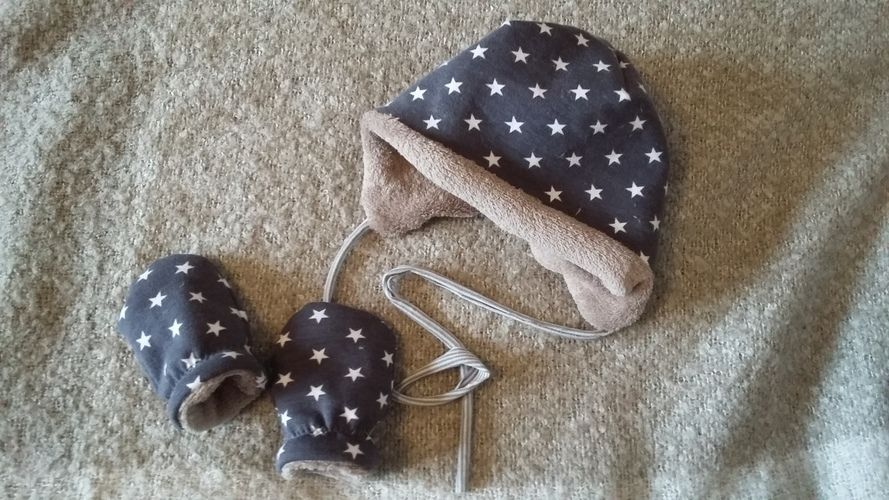 Makerist - Baby Wintermütze + Handschuhe - Nähprojekte - 1