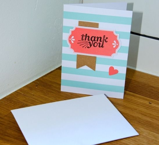 "Makerist - ""Thank you""-Karte - DIY-Projekte - 1"