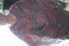Makerist - poncho au crochet  laine bayadere a la vente - 1