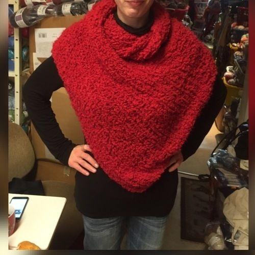Makerist - Nicht nur ein Schal - aber auch noch kein Poncho - vielleicht ein Schancho? - Strickprojekte - 1