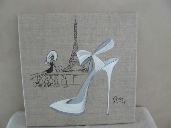 39 a paris quand un amour sourit acrylique et encre de chine sur toile de lin 39 de atelier. Black Bedroom Furniture Sets. Home Design Ideas