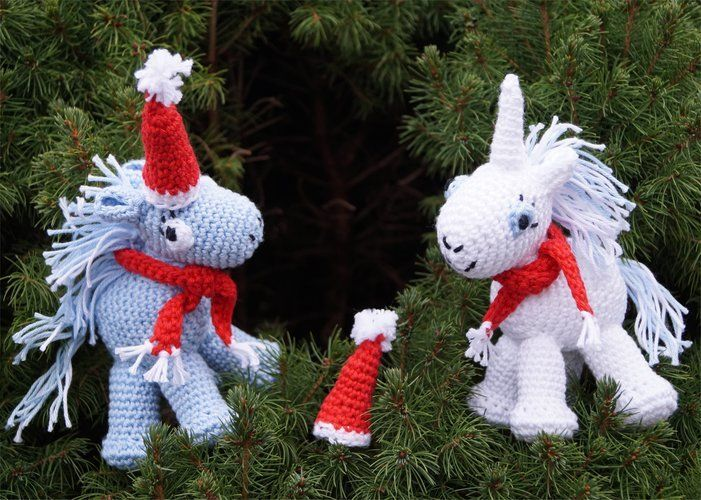 Makerist - Einhorn Santa + Claus - Häkelprojekte - 1