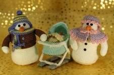 Makerist - Schneefamilie: Schneemann, Schneefrau & Schneebaby - 1