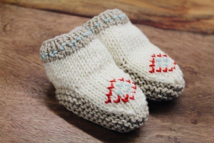 Makerist - Baby Mokassins - Strickprojekte - 1