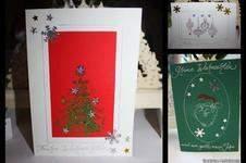 Makerist - Glitzer-Weihnachtskarten - 1