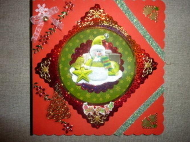 Makerist - Weihnachtskarte in grün und rot! - DIY-Projekte - 1
