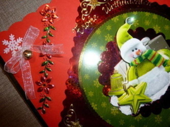 Makerist - Weihnachtskarte in grün und rot! - DIY-Projekte - 2