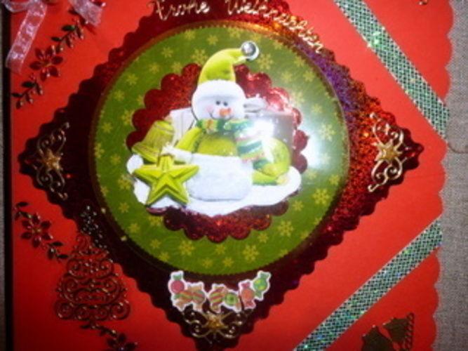 Makerist - Weihnachtskarte in grün und rot! - DIY-Projekte - 3