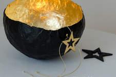 Makerist - Pappmaché-Windlicht mit Schlagmetall - 1
