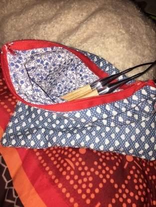 Makerist - Kleines Täschchen für Stricknadeln,Schminkzeug oder,oder,oder... - 1