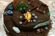 Makerist - Survivaltorte zum 30. Geburtstag aus Schokobiskuit und Ganachefüllung, Deko aus Fondant  - 1