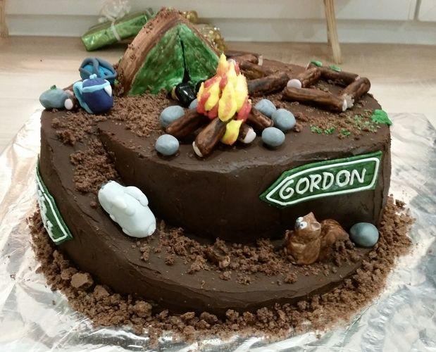 Makerist - Survivaltorte zum 30. Geburtstag aus Schokobiskuit und Ganachefüllung, Deko aus Fondant  - Torten, Cake Pops und Cupcakes - 2