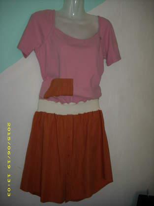 Makerist - upcyling Kleid aus einem Tshirt etwas Bundchenstoff und einem Herrenoberhemd - 1