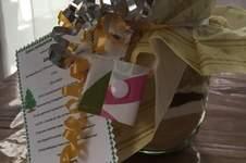 Makerist - Selbstgemachte Backmischung mit einem Einkaufswagenchiptäschchen und Kosmetiktasche  - 1