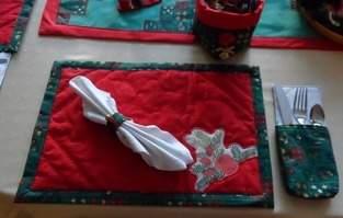 Makerist - Weihnachtliches Tischset - 1