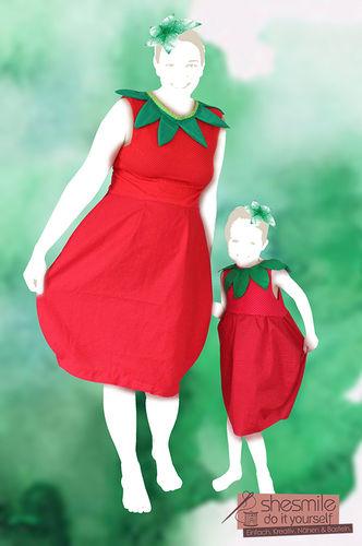 Makerist - Mama-Tochter-Erdbeer-Ballonkleid - Nähprojekte - 1