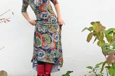"Makerist - bodenlanges Kleid ""Herbstgold"" - 1"
