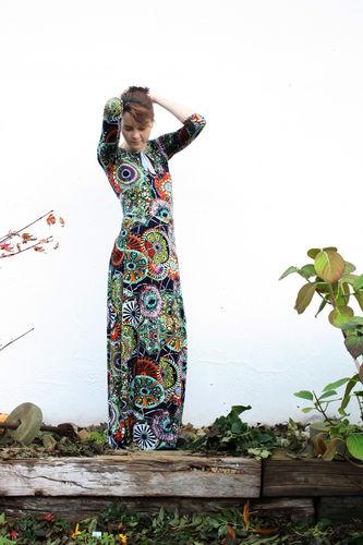 "Makerist - bodenlanges Kleid ""Herbstgold"" - Nähprojekte - 2"