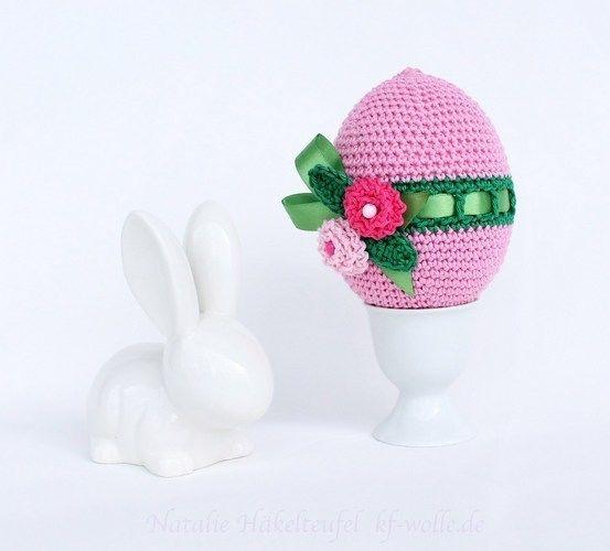 Makerist - Ostereier mit Blumen - Häkelprojekte - 2