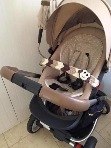 Makerist - Bügelschoner mit Zickzackmuster für den Kinderwagen - Strickprojekte - 1