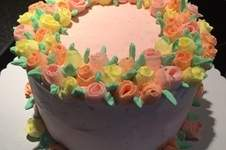 Makerist - Ribbon Rose Buttercream Cake - 1