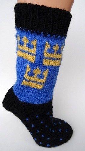 Makerist - Socken mit schwedischem Kronenmotiv - Strickprojekte - 1