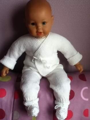 Makerist - ensemble bebe couleur blanc - 1