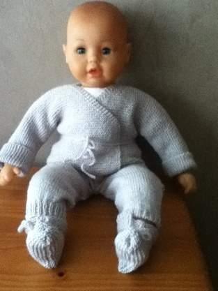 Makerist - ensemble bebe couleur gris perle - 1