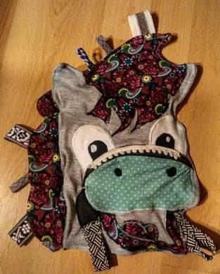 Makerist - Babyknistertuch Pony (Jerseystoffe) - 1