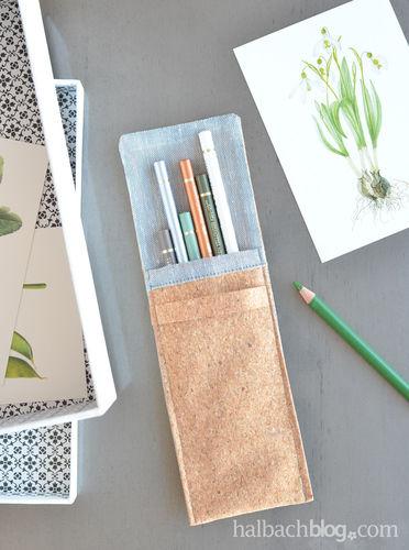 Makerist - ♥ Korkstoff: Stifte-Tasche ♥ - Nähprojekte - 1