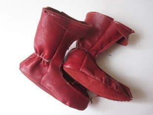Makerist - Elfenstiefel aus rotem Leder - 1