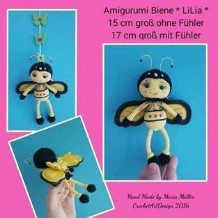 "Makerist - Amigurumi Biene "" LiLia "" 15 cm groß - 1"
