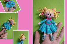 "Makerist - Finger Puppe ""Klarissa"" 14 cm Groß  - 1"