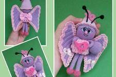 """Makerist -  Schmetterling """" Gina """" 17 cm Groß - 1"""