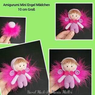 Makerist - Amigurumi Mini Engel mit Feder - 1
