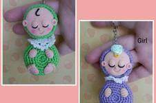 Makerist - Amigurumi Taschen / Schlüssel Anhänger Babys - 1