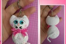 Makerist - Amigurumi Taschen / Schlüssel Anhänger Katze - 1