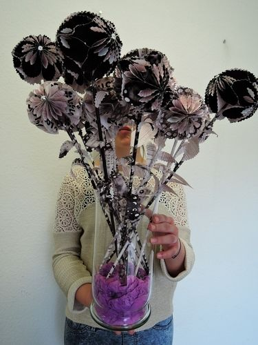 Makerist - PapierBlumenDeko - DIY-Projekte - 1