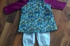 Makerist - Outfit für den Frühlingsausflug. Cordkleid, T-Shirt und Hose - 1