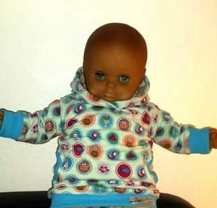 Makerist - Kapuzen Hoodie bestehend aus Jersey, Sweatstoff u Bündchenstoff für meine Nichte Frieda - 1