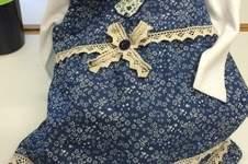 Makerist - Kleid Größe 80 für die erste Tochter meines Patensohnes; Jeansstoff mit Blümchen - 1