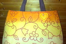 "Makerist - Shopper ""Orange Flower"" - 1"