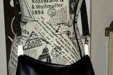Makerist - Shopper Tasche aus Gobelin, Baumwollstoff, Kunstleder, Vlies, Gurtband - 1
