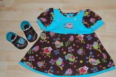 Makerist - Kleid gr. 80 und passende Lederpuschen - 1